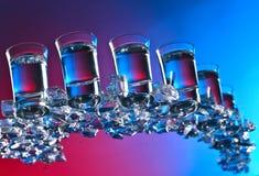 Glasses of vodka . stock photo