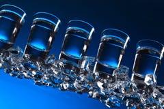 Glasses of vodka . stock photography