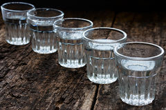 Glasses of vodka Royalty Free Stock Image