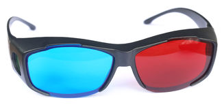 Glasses for watching 3d movies Stock Photo