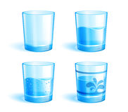 Glasses with water. Illustration of glasses: empty and with clear water. Additional format: EPS v.10 Stock Photo