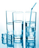Glasses of water Royalty Free Stock Photos