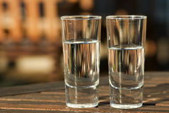 Glasses of water Stock Images