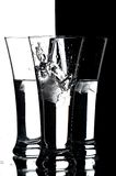 Glasses with water Royalty Free Stock Photo