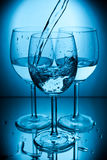 Glasses with water Stock Image