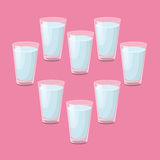 8 glasses of water a day Royalty Free Stock Photo