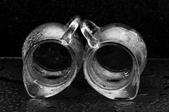 Glasses in water drops Royalty Free Stock Image