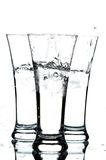 Glasses with water and ice royalty free stock image
