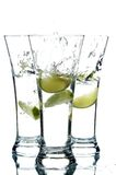 Glasses with water and lime Royalty Free Stock Photo