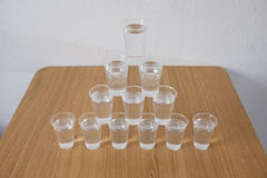 Glasses of water Stock Photography