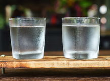 Glasses of water. On the table Stock Photos
