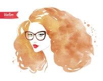 glasses wearing woman young Стоковое Изображение RF