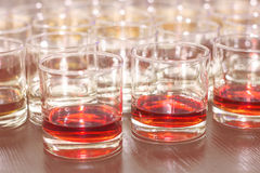 Glasses of whiskey royalty free stock photo