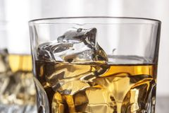 Glasses of whiskey Royalty Free Stock Image