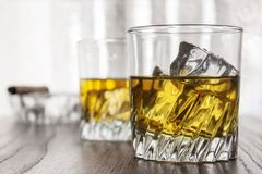 Glasses of whiskey Stock Photos