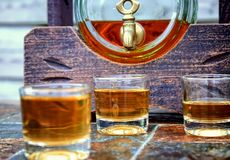 Alcohol,taste and drink concept. Stock Photography
