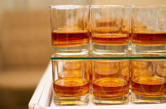 Glasses with whiskey Stock Photos