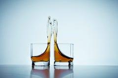 Glasses of whiskey Stock Photos