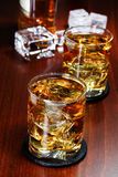 Glasses of whiskey Royalty Free Stock Photos