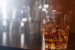 Glasses with whiskey royalty free stock photo