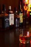 Glasses of whisky stock photo