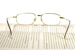 Glasses on white Royalty Free Stock Photo