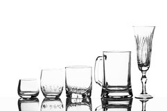 glasses on a white background Royalty Free Stock Photos