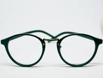 Glasses on white background stock photos