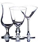 Glasses. With white background, martini and fizz Royalty Free Stock Images
