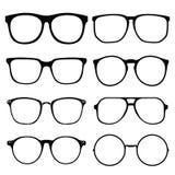 Glasses  on white background set 1 Royalty Free Stock Photo