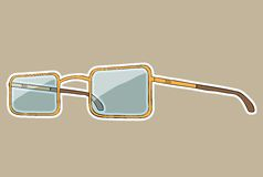 Glasses with white outline. Vector hand drawn Royalty Free Stock Images