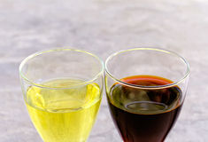 Glasses with white and red wine Royalty Free Stock Photography