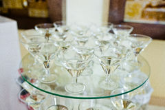 Glasses with white vermouth Stock Photo