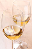 Glasses of white wine Royalty Free Stock Image