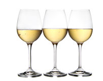 Glasses of white wine Royalty Free Stock Photo