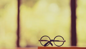 Glasses By Window. Royalty Free Stock Photo