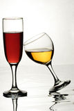 Glasses of wine. Two glasses with wine Stock Images