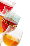 Glasses of wine. With copy space in white Stock Images