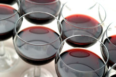 Glasses with wine Stock Images