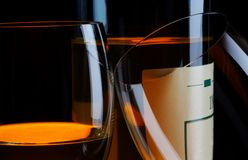 Glasses and wine Royalty Free Stock Photography