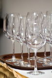 Glasses for wine Stock Image