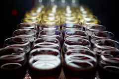 Glasses with wine. Glasses with red and white wine Royalty Free Stock Photo