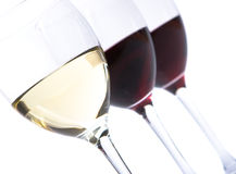 Glasses of wine. Close up Stock Photo