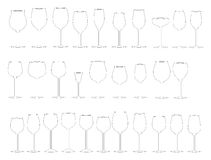 Glasses of wine. Vector Image, software: Illustrator Royalty Free Stock Photo