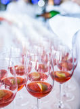 Glasses of wine. royalty free stock photo