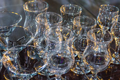 Glasses for the wine Stock Images