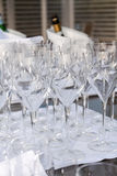 Glasses for wine Royalty Free Stock Photos
