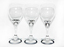 Glasses, wine glasses Royalty Free Stock Images