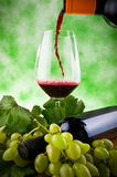 Glasses of wine and grapes Royalty Free Stock Image
