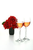 Glasses of wine isolated Royalty Free Stock Photography